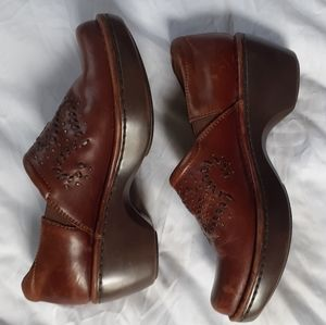 Ariat brown leather clogs, women's size 8.5